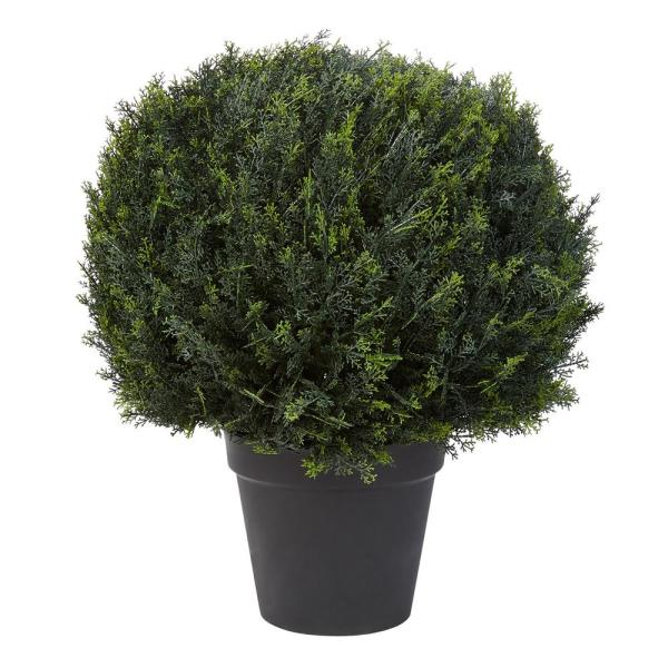 23 in. Artificial Ball Style Cypress Topiary