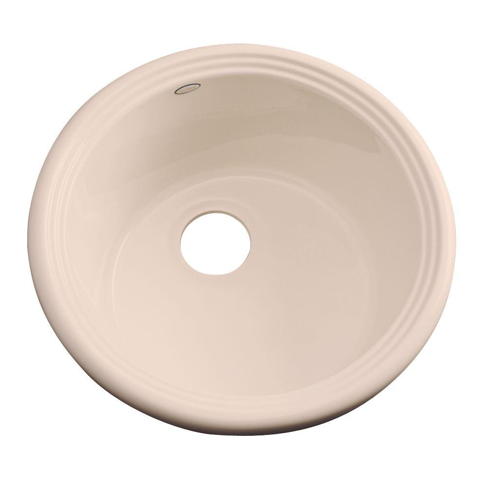 Thermocast Hampton Drop-In Acrylic 18 in. Single Bowl Entertainment Sink in Peach Bisque