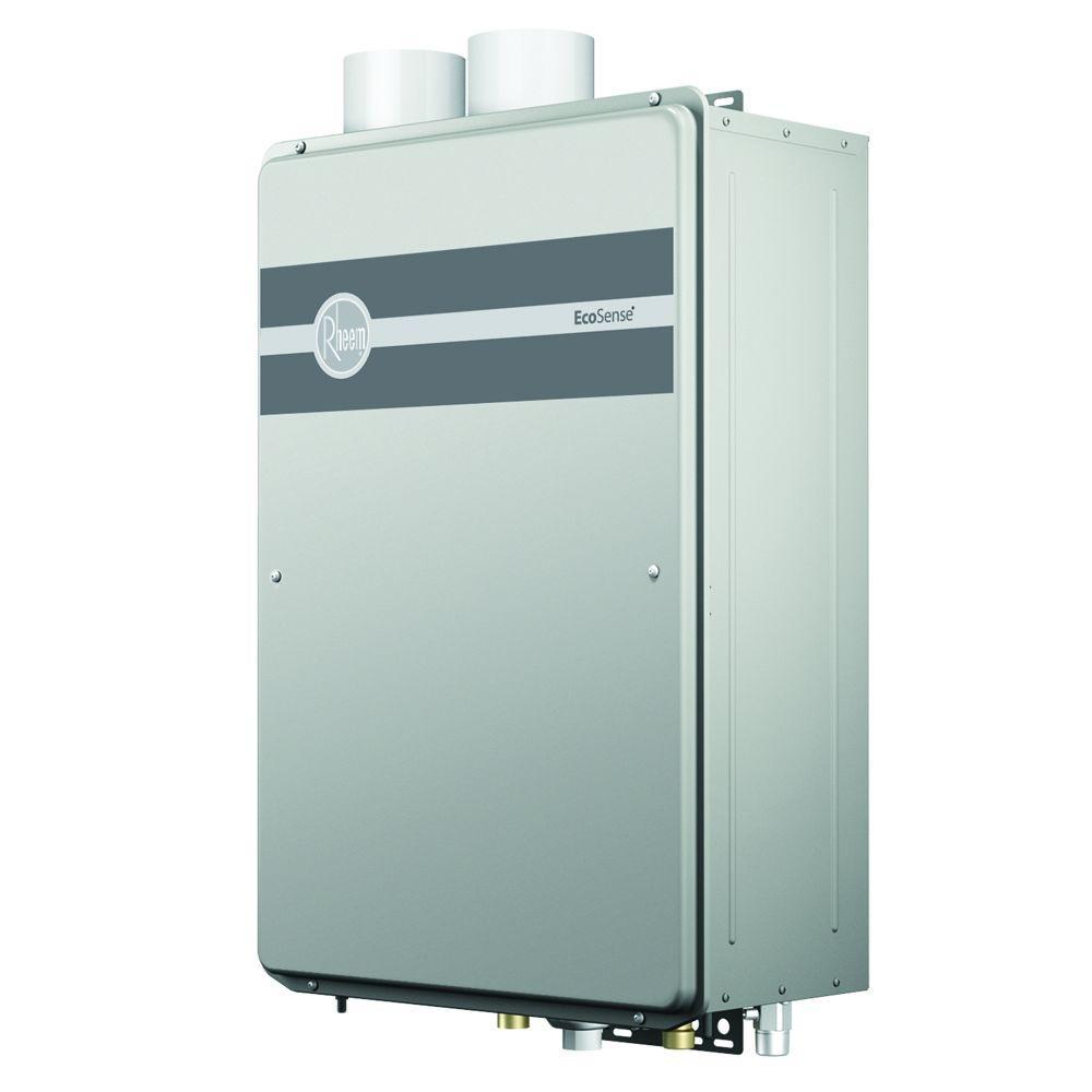 Rheem EcoSense 8.4 GPM Liquid Propane Gas High Efficiency Indoor Tankless Gas Water Heater