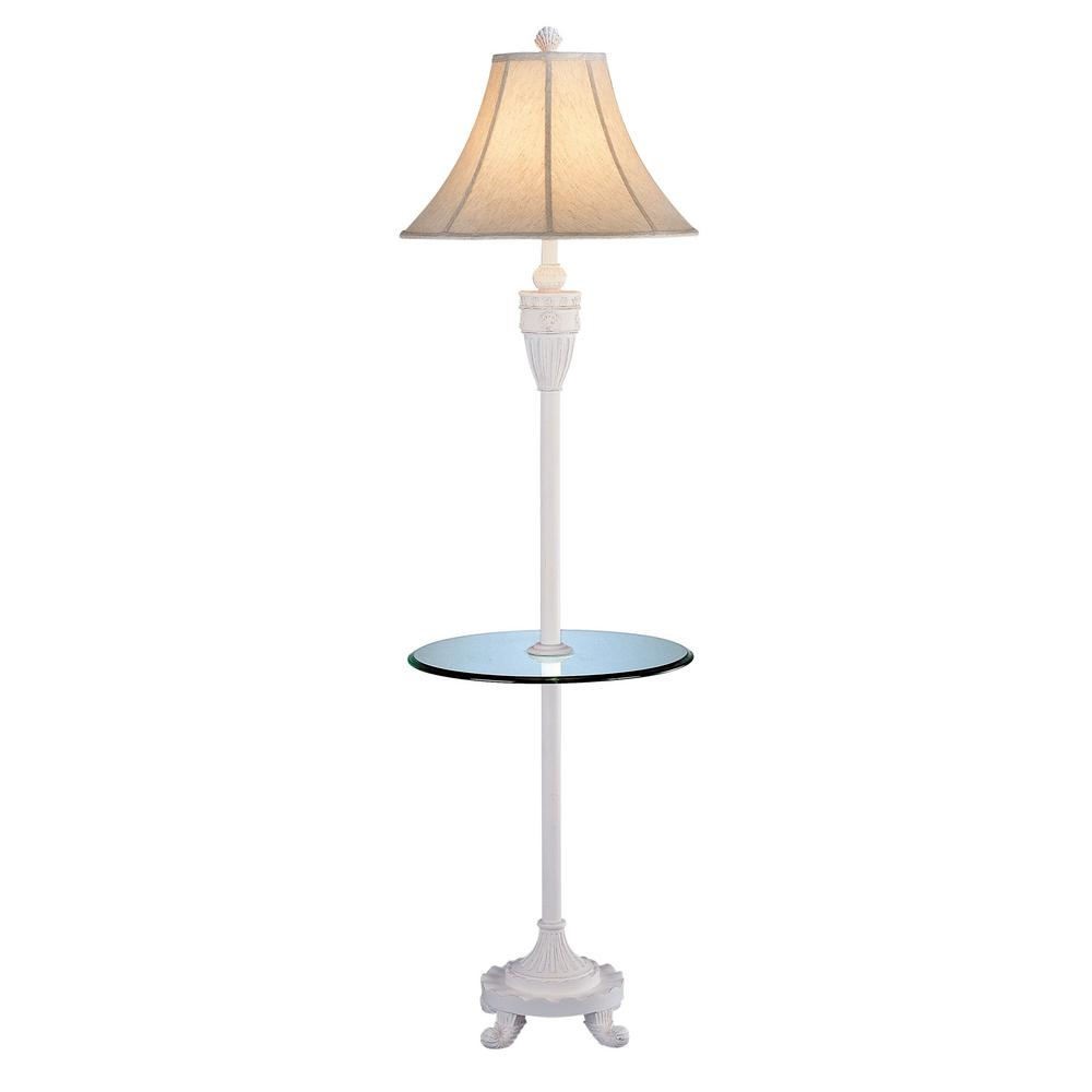 64 in. Antique White Indoor Floor Lamp