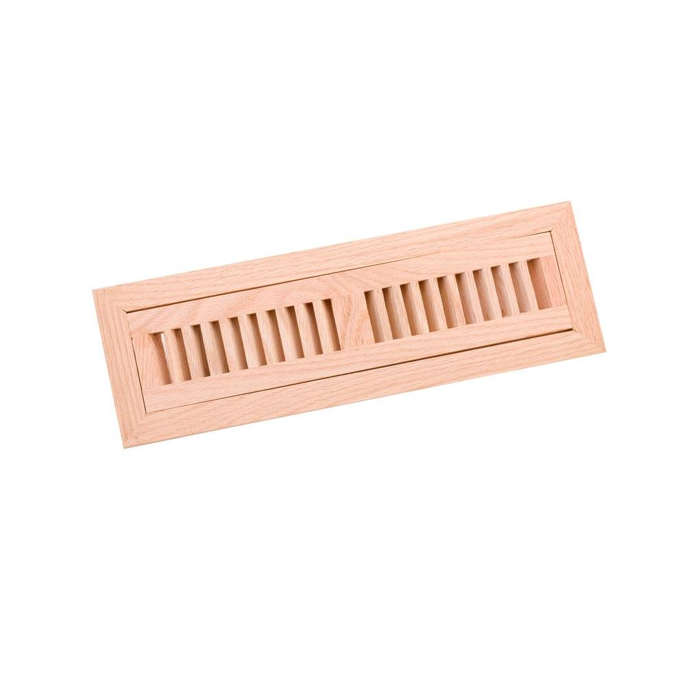 Zoroufy 2 25 In X 12 Wood Red Oak Unfinished Flush Mount Vent