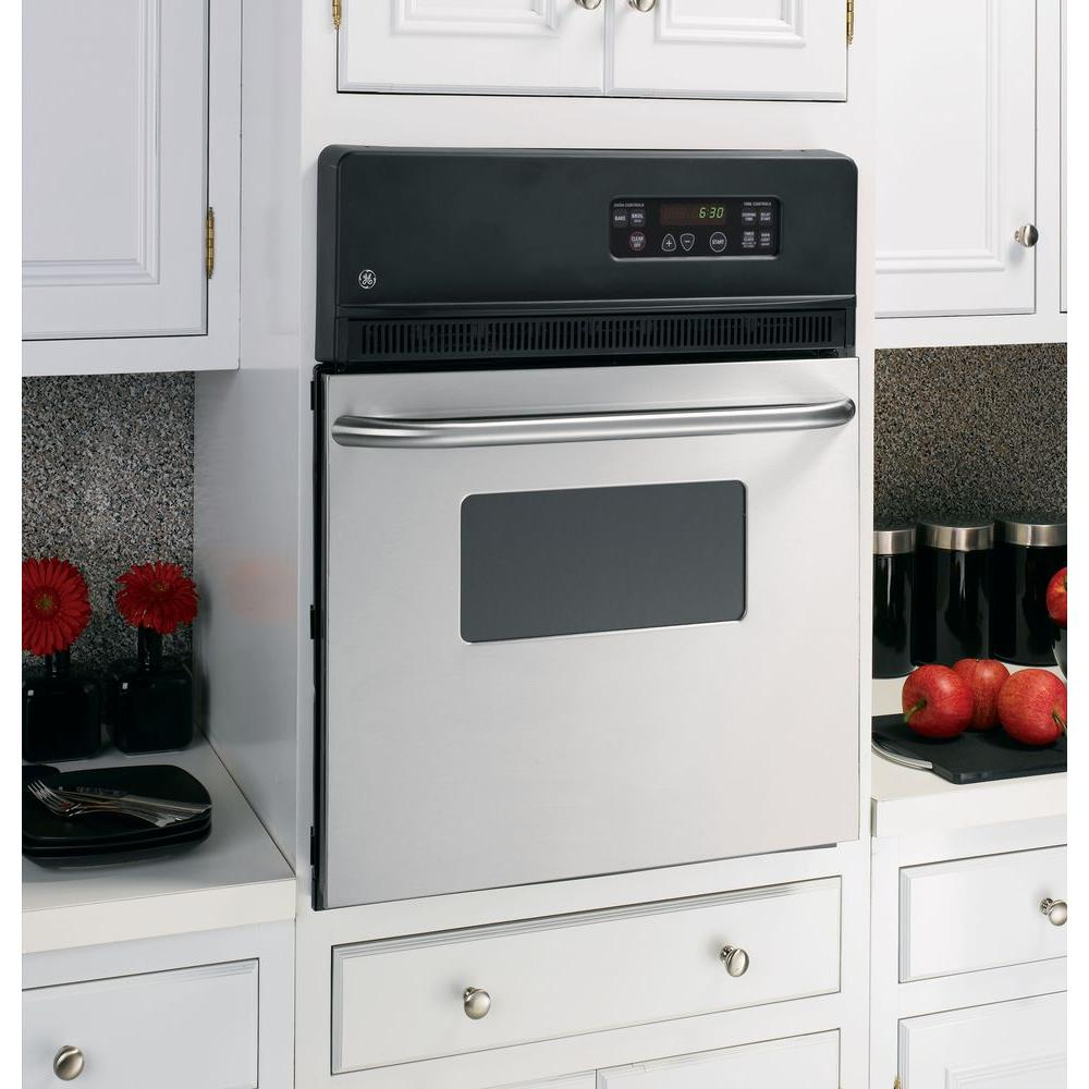 Ge 24 In Single Electric Wall Oven Stainless Steel