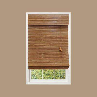 Honey Bamboo Weave Bamboo Roman Shade - 52 in. W x 48 in. L