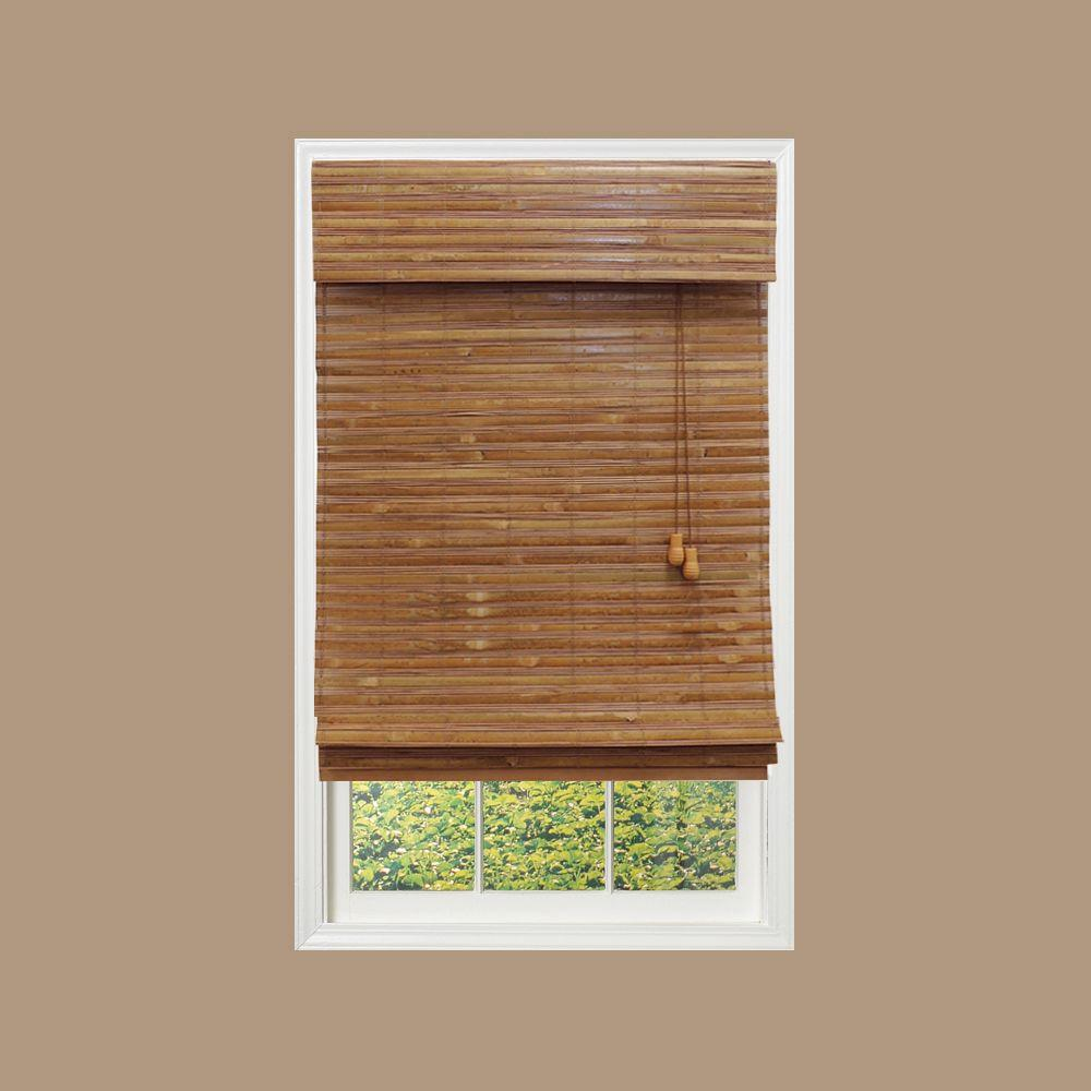 Honey Bamboo Weave Bamboo Roman Shade - 72 in. W x