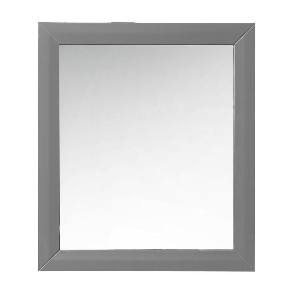 28 in. W x 31.5 in. H Framed Mirror in Sapphire Gray