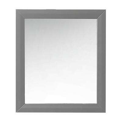 28 in. W x 31.5 in. H Framed Mirror in Sapphire Gray