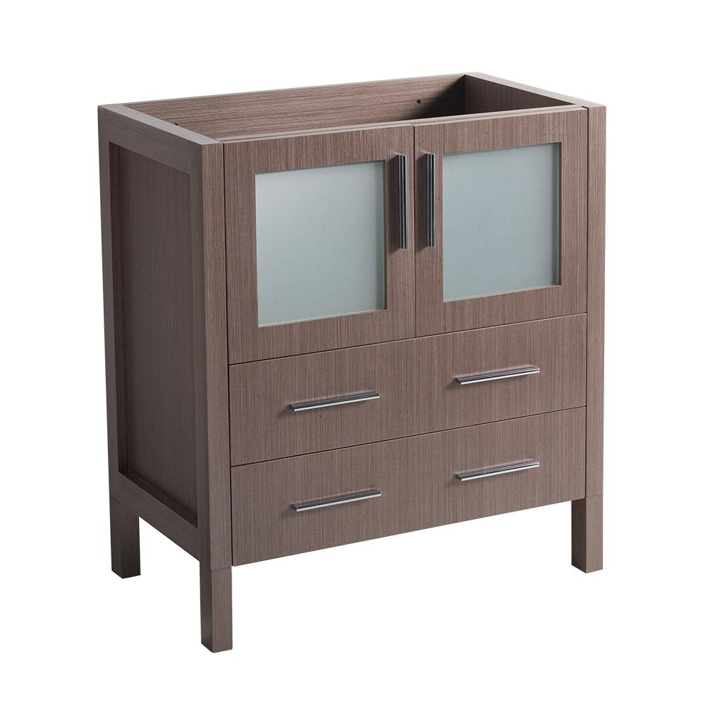 30 in. Torino Modern Bathroom Vanity Cabinet in Gray Oak