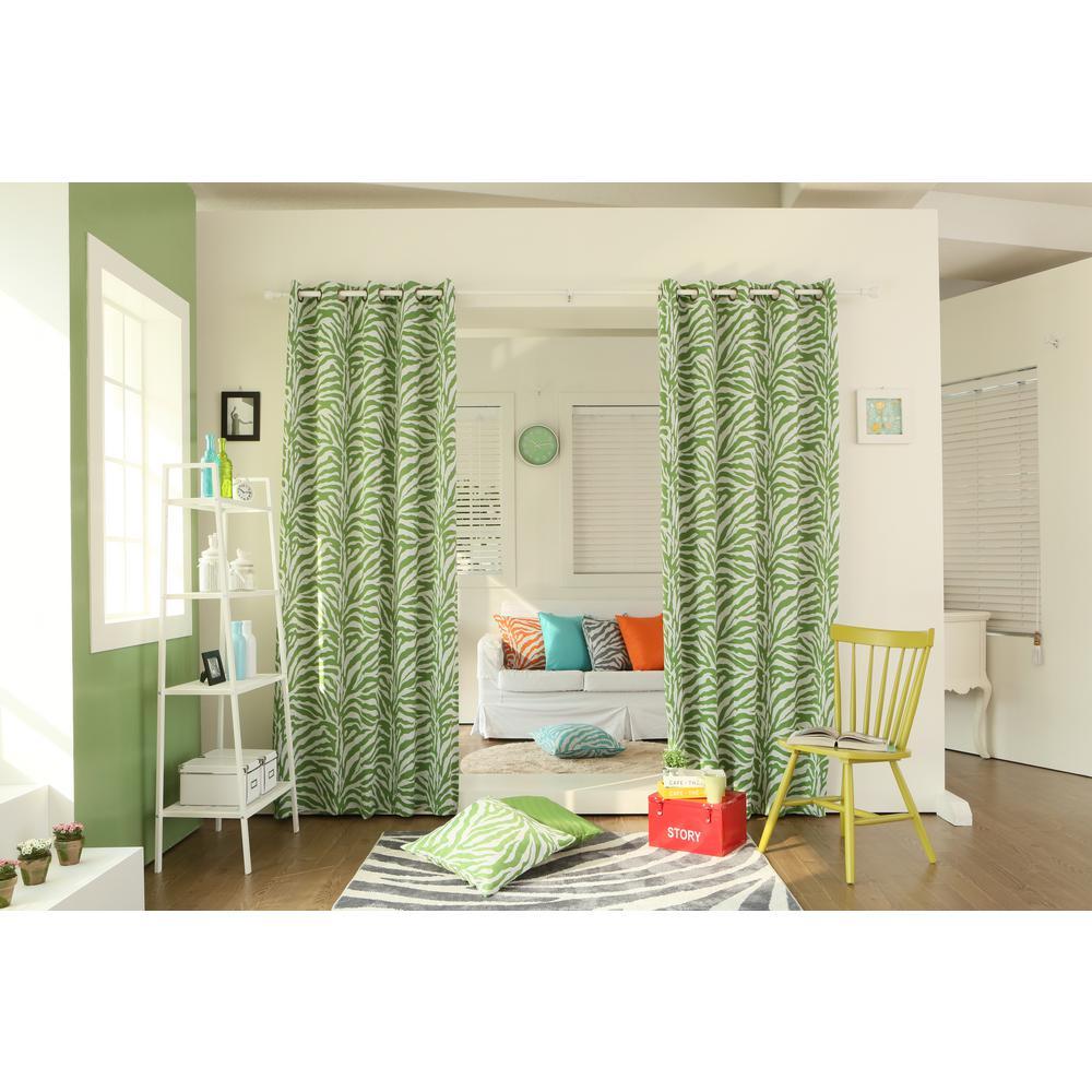 best home fashion 84 in l green zebra room darkening. Black Bedroom Furniture Sets. Home Design Ideas