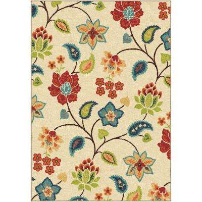 Parwan Ivory 6 ft. 7 in. x 9 ft. 8 in. Indoor Area Rug
