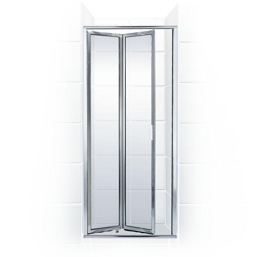 Coastal shower doors shower doors showers the home depot framed bi fold double hinged shower planetlyrics Images