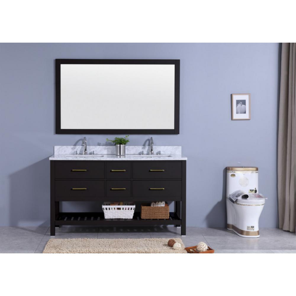 61 in. W x 22 in. D Vanity in Espresso with