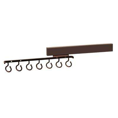 Deluxe 7-Hook Sliding Scarf Rack