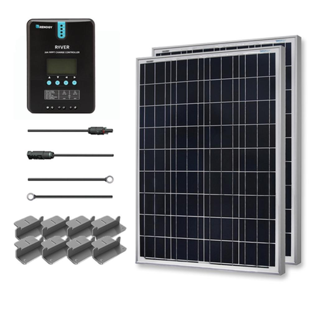 200-Watt 12-Volt Polycrystalline Off-Grid Solar Starter Kit with MPPT Charge