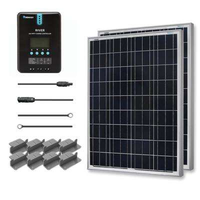 200-Watt 12-Volt Polycrystalline Off-Grid Solar Starter Kit with MPPT Charge Controller