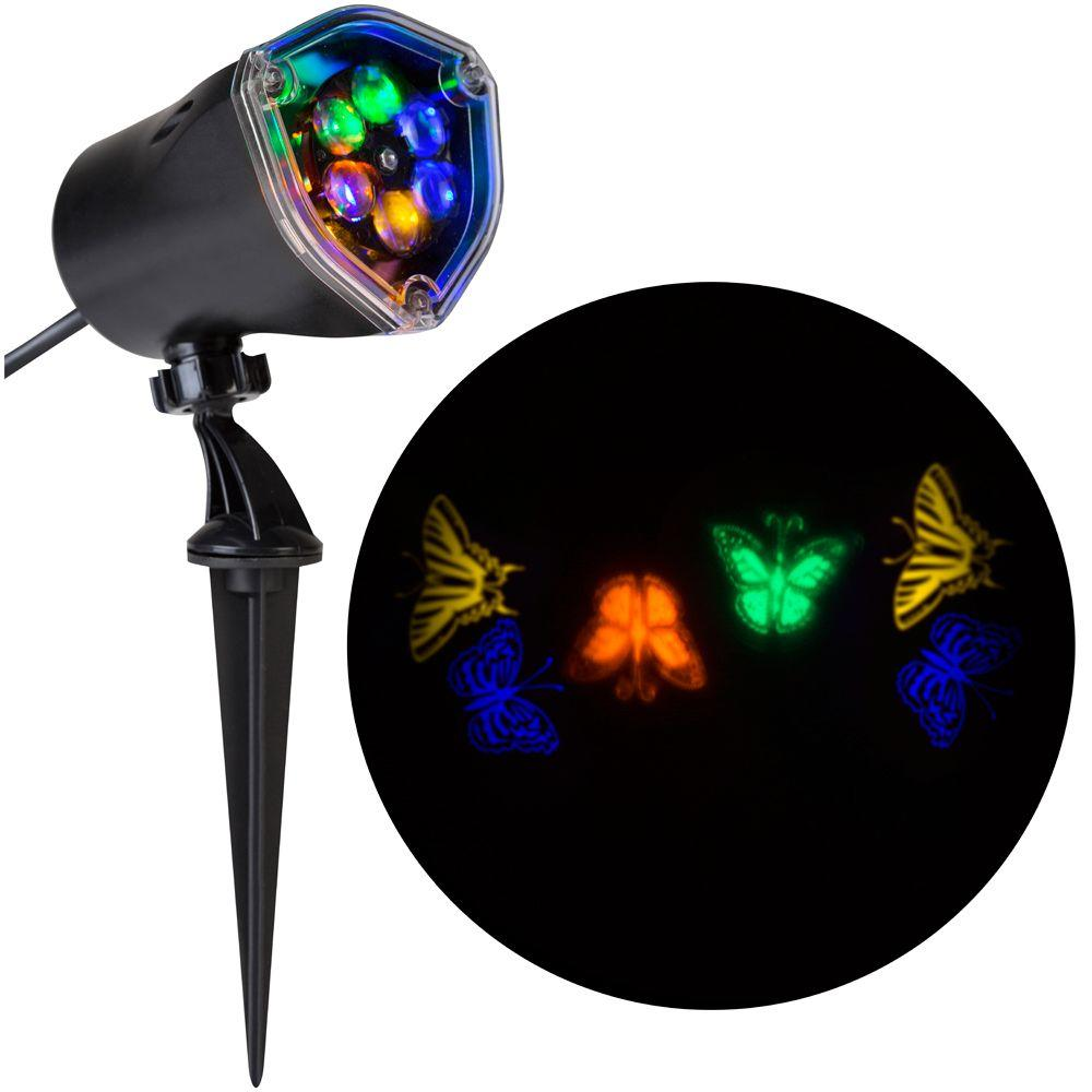 Gemmy 11.81 in. Projection-Whirl-a-Motion-Butterflies (Bg...