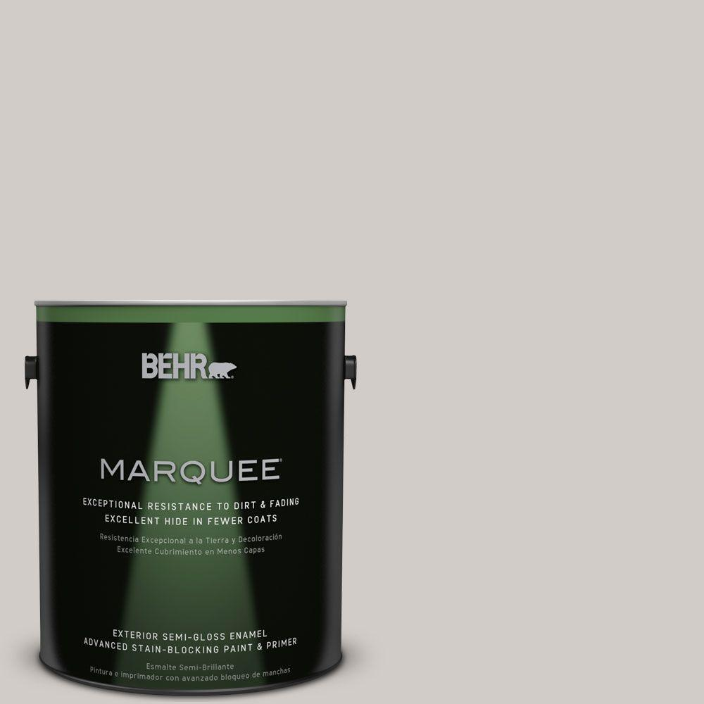 BEHR MARQUEE Home Decorators Collection 1-gal. #HDC-NT-20 Cotton Grey Semi-Gloss Enamel Exterior Paint