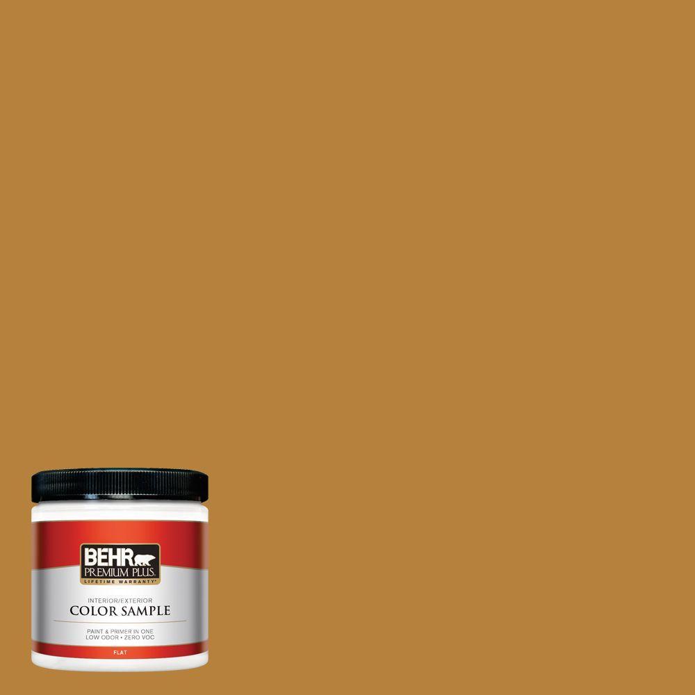 BEHR Premium Plus 8 oz. #S-H-330 Honeysuckle Blast Interior/Exterior Paint Sample