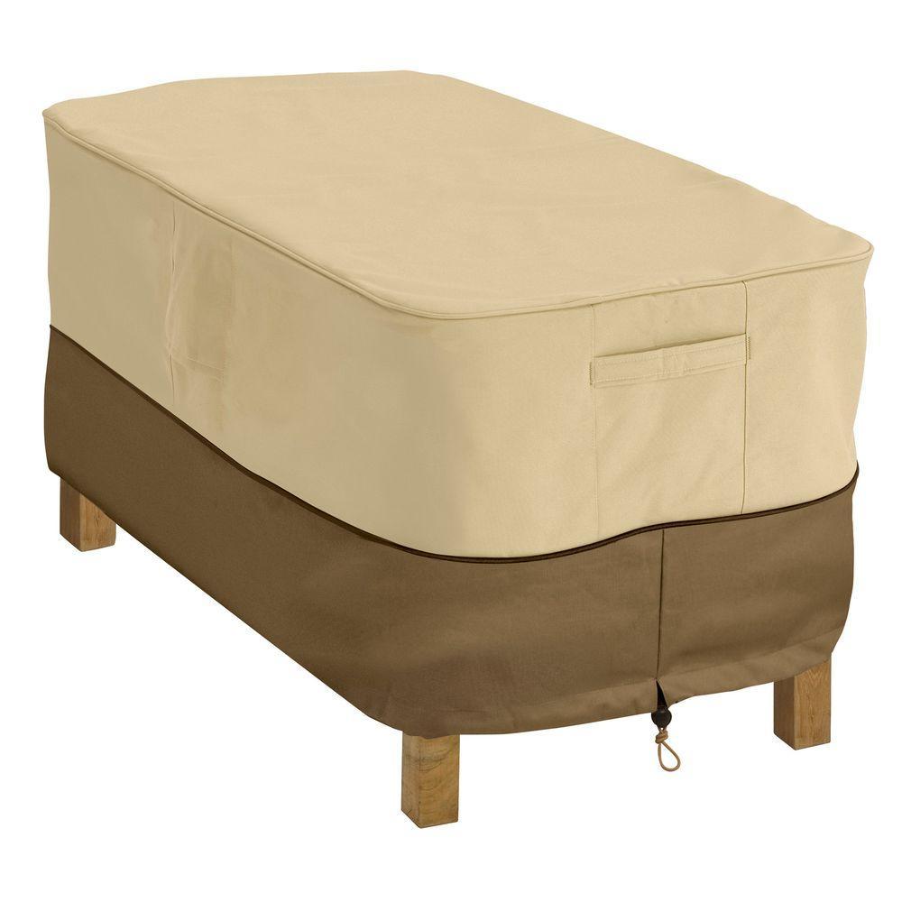 classic accessories veranda rectangular patio coffee table cover 55 rh homedepot com QVC Patio Furniture Covers QVC Patio Furniture Covers