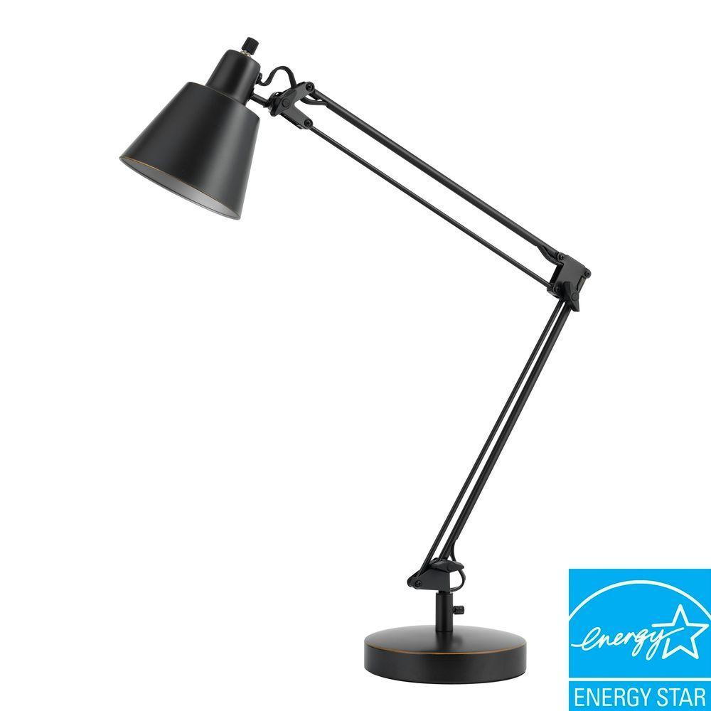 27 in. Udbina Metal Desk Lamp in Dark Bronze