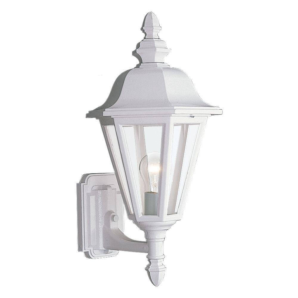 Sea Gull Lighting Brentwood 1-Light White Outdoor Wall Fixture