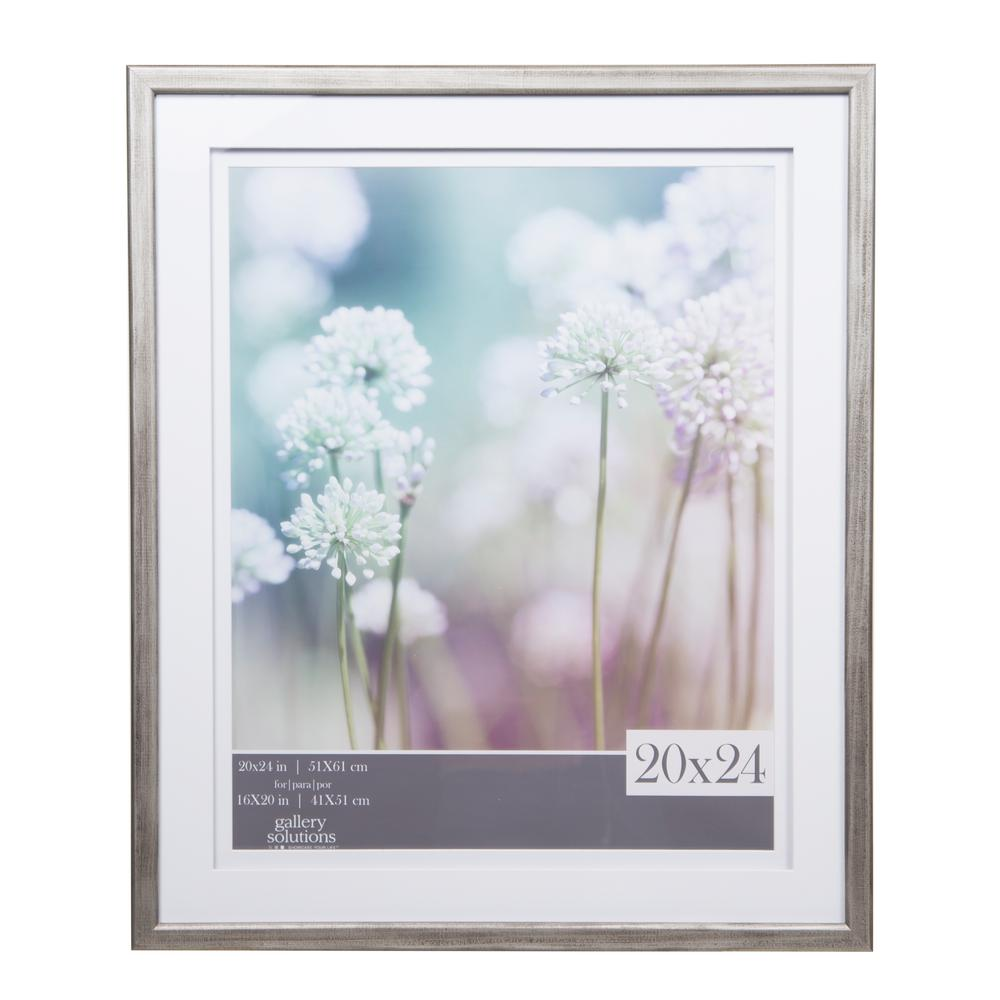 Pinnacle Gallery 16 in. x 20 in. Gray Double Mat Picture Frame ...