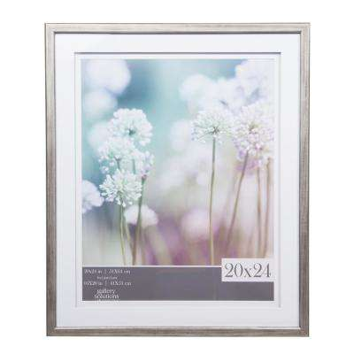 Gallery 16 in. x 20 in. Gray Double Mat Picture Frame