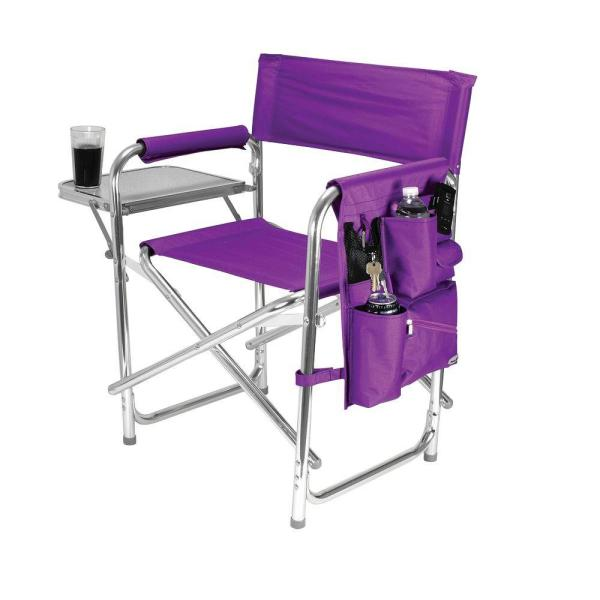 Picnic Time Purple Sports Portable Folding Patio Chair 809