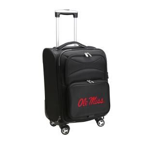 NCAA Mississippi Black 21 in. Carry-On Softside Spinner Suitcase