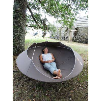 6 ft. Portable Double Tree Hammock in Taupe