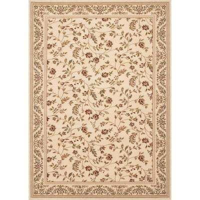 Manor House Cream/Floral 5 ft. x 7 ft. Area Rug