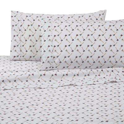 Novelty Multi Polyester Queen Sheet Set