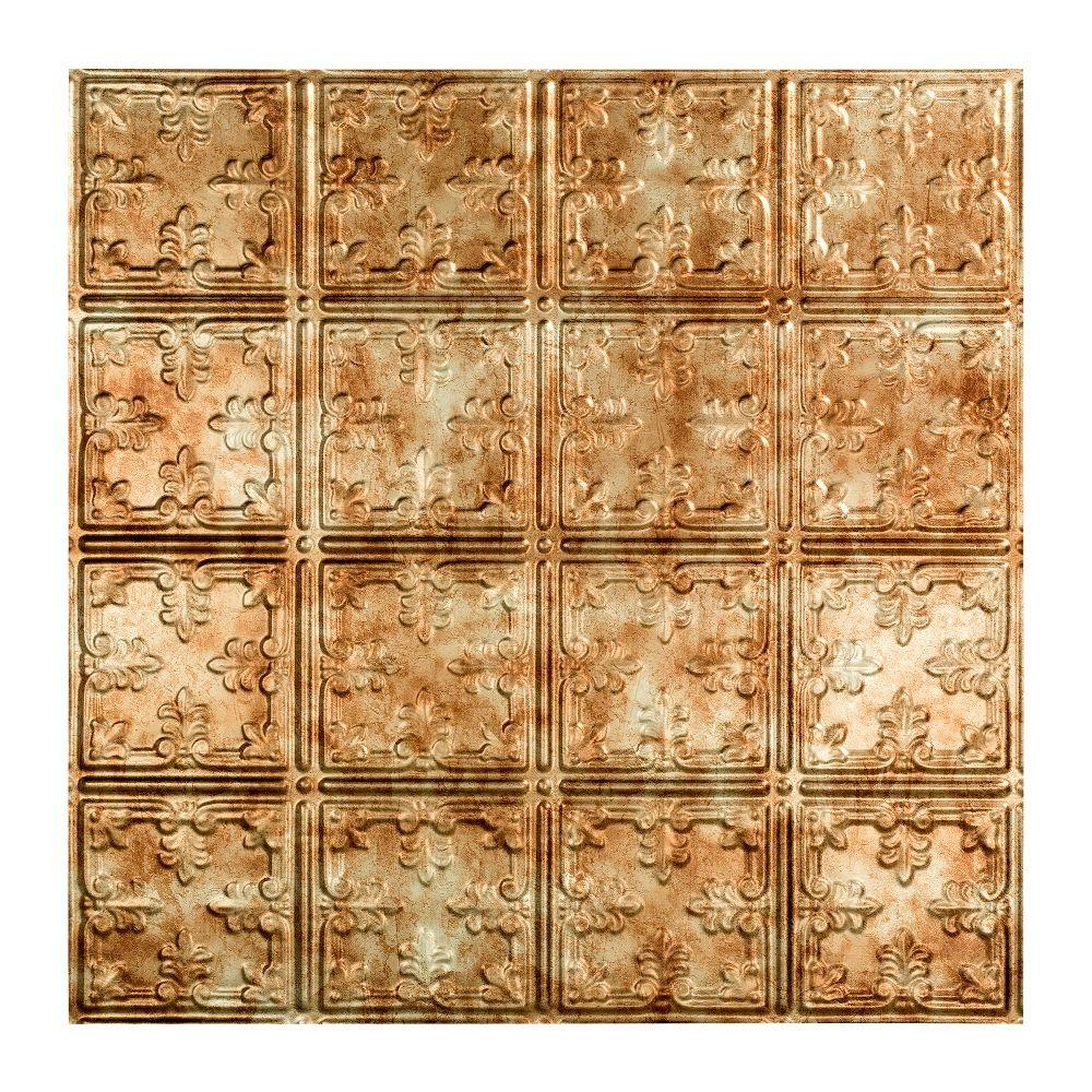 Fasade Traditional 10 - 2 ft. x 2 ft. Lay-in Ceiling Tile in Bermuda Bronze