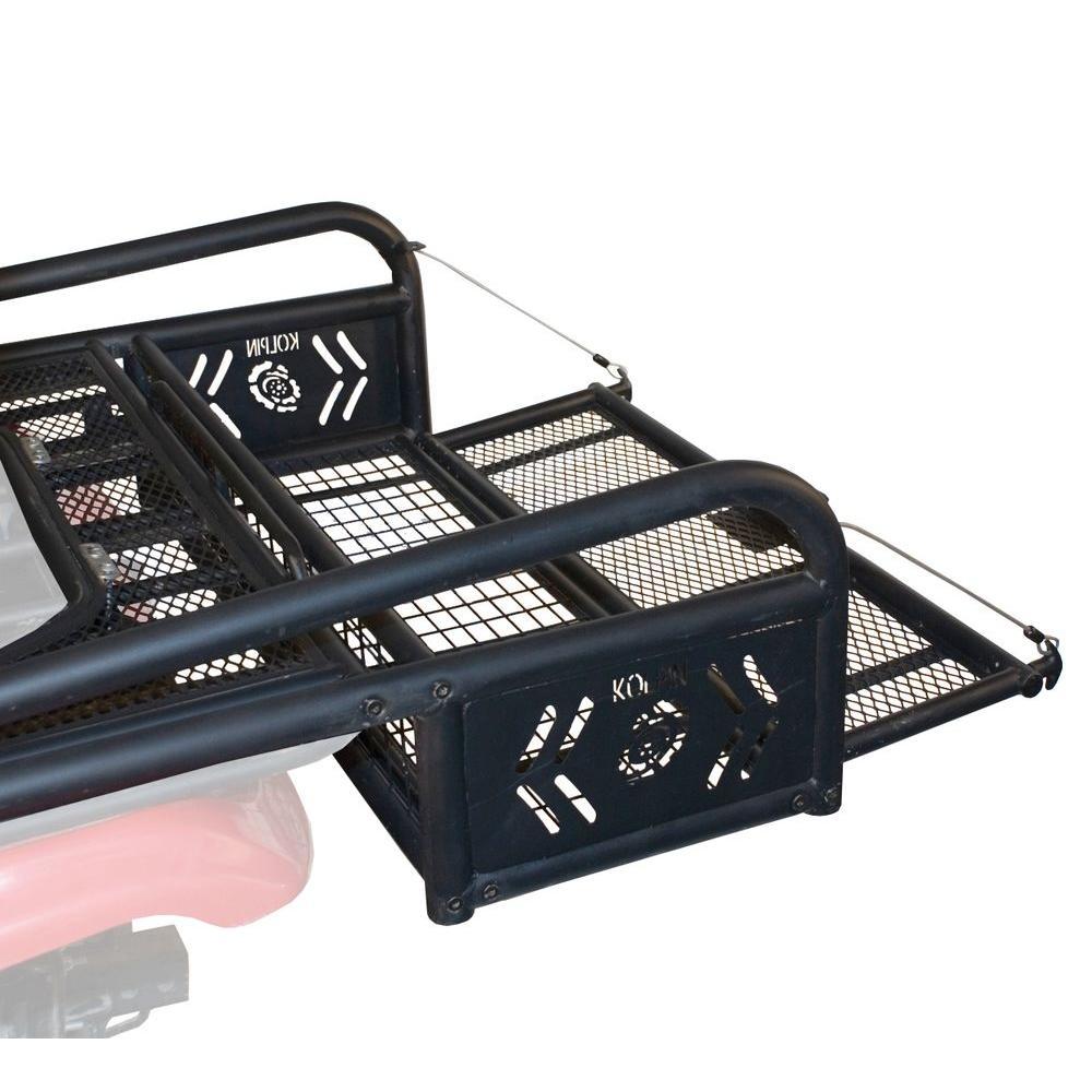 rear drop mesh widow basket atvdb black discount rack steel atv p ramps