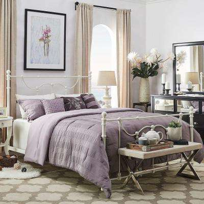 Dorado Antique White Queen Bed Frame