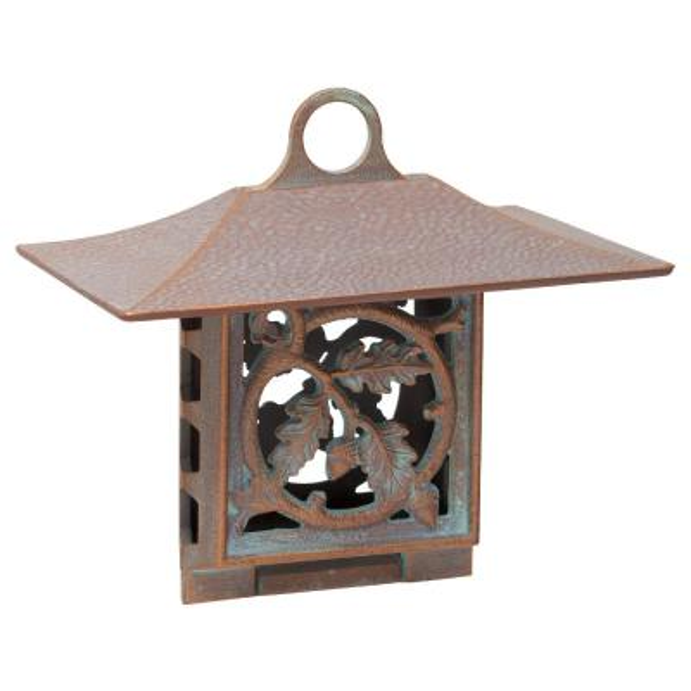 Oak-Leaf Artisan Copper Verdi Suet Bird Feeder