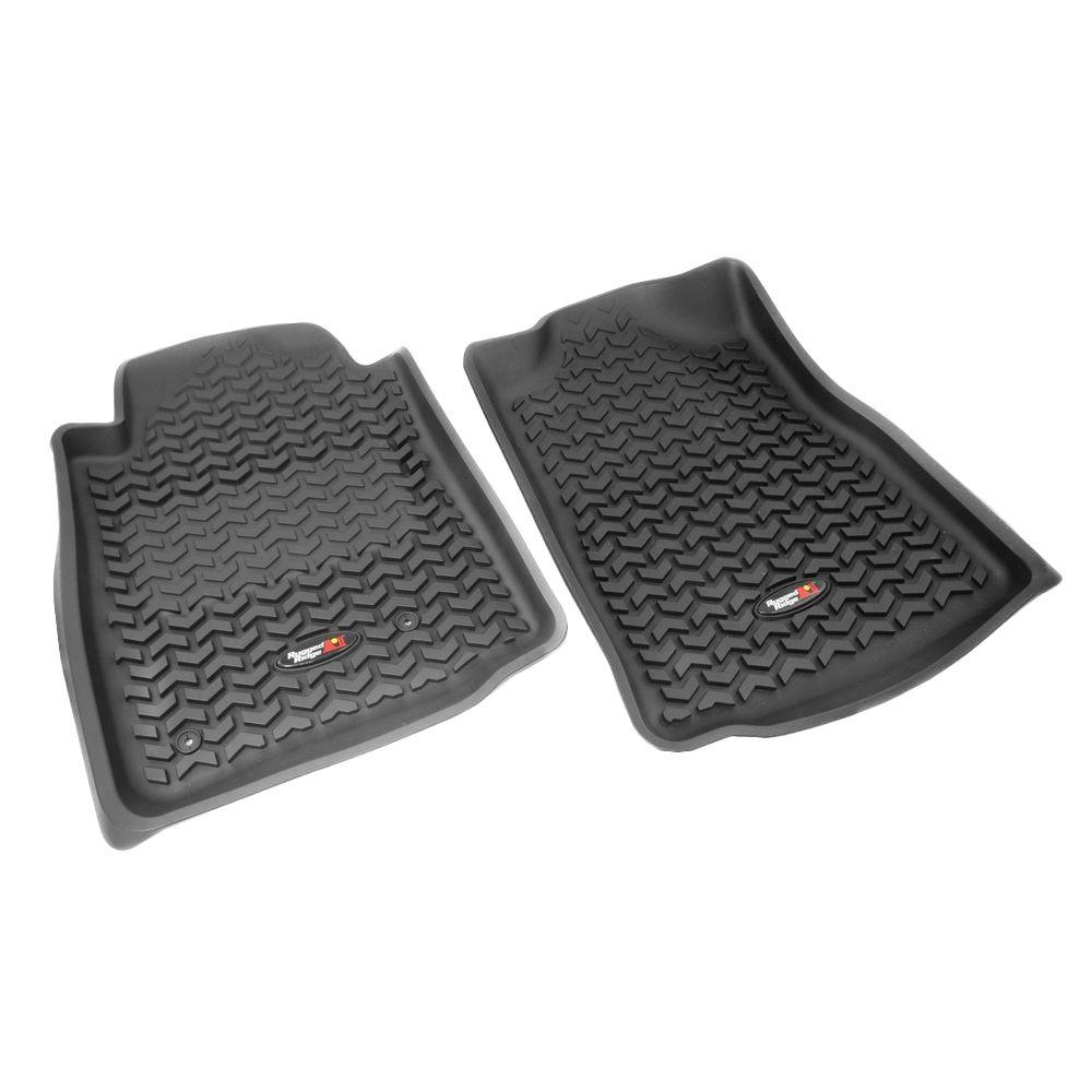 Rugged Ridge Floor Liner Front Pair Black 2008-2011 Toyota Tundra and Sequoia