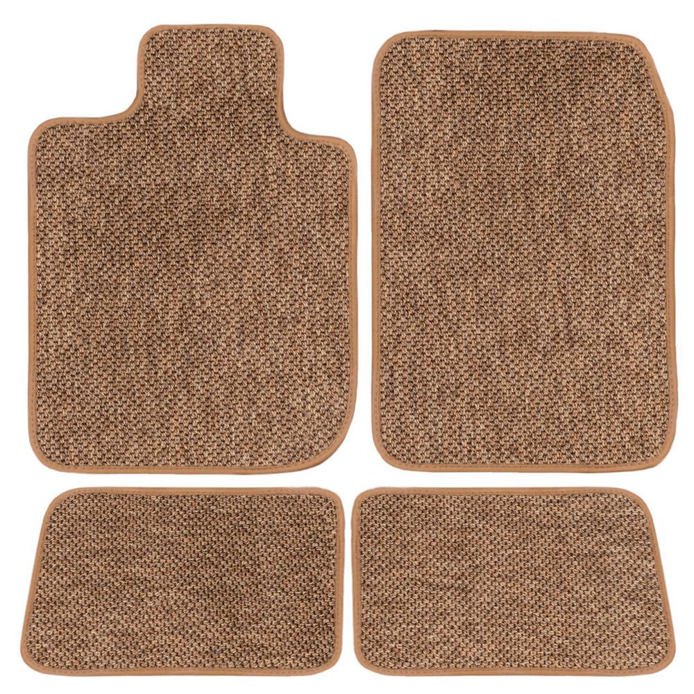 GGBAILEY GMC Sierra 1500 Crew Cab Beige All-Weather Textile Carpet Car Mats, Custom Fit for 2014-2018 Driver Passenger&Rear Mats was $227.41 now $180.0 (21.0% off)