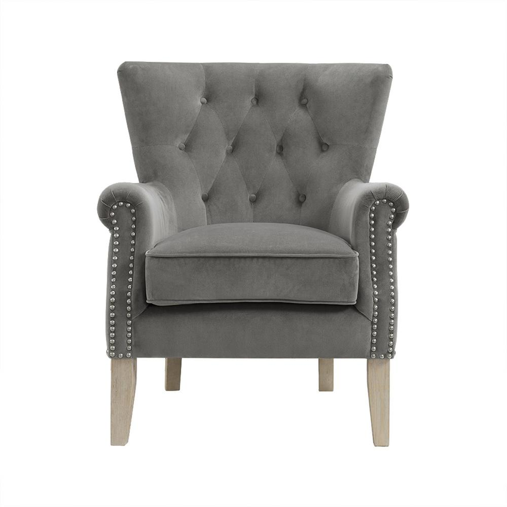 Dorel Tilda Gray Accent Chair Fh7563 Gr The Home Depot