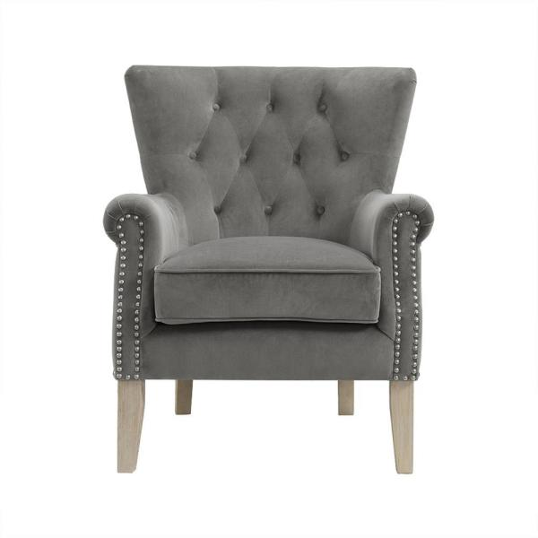 Swell Dorel Tilda Gray Accent Chair Fh7563 Gr The Home Depot Caraccident5 Cool Chair Designs And Ideas Caraccident5Info