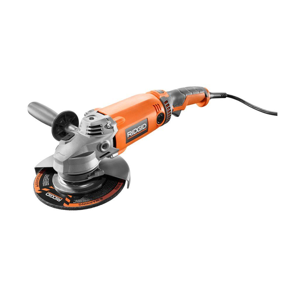 RIDGID 15 Amp Corded 7 in. Twist Handle Angle Grinder