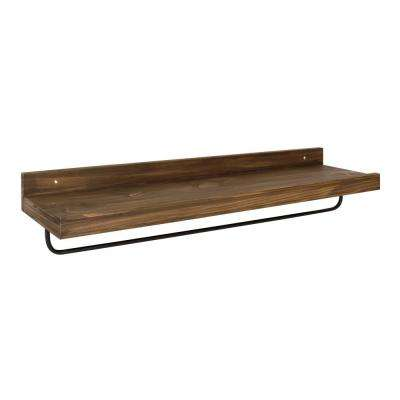 Torben 10 in. x 36 in. x 7 in. Rustic Brown Decorative Wall Shelf