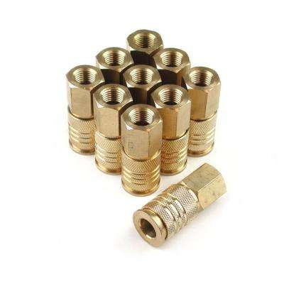 10-Piece 1/4 in. Brass 6-Ball Female Universal Coupler