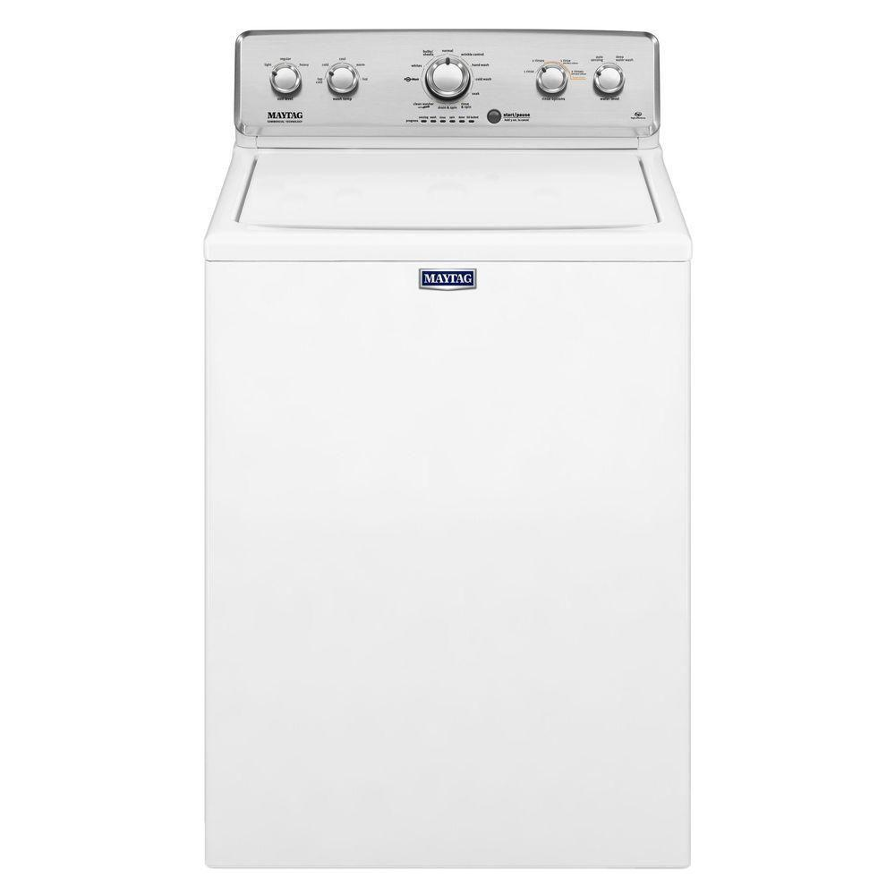 Maytag 4.2 cu. ft. High-Efficiency White Top Load Washing Machine with Deep Water Wash and PowerWash Cycle
