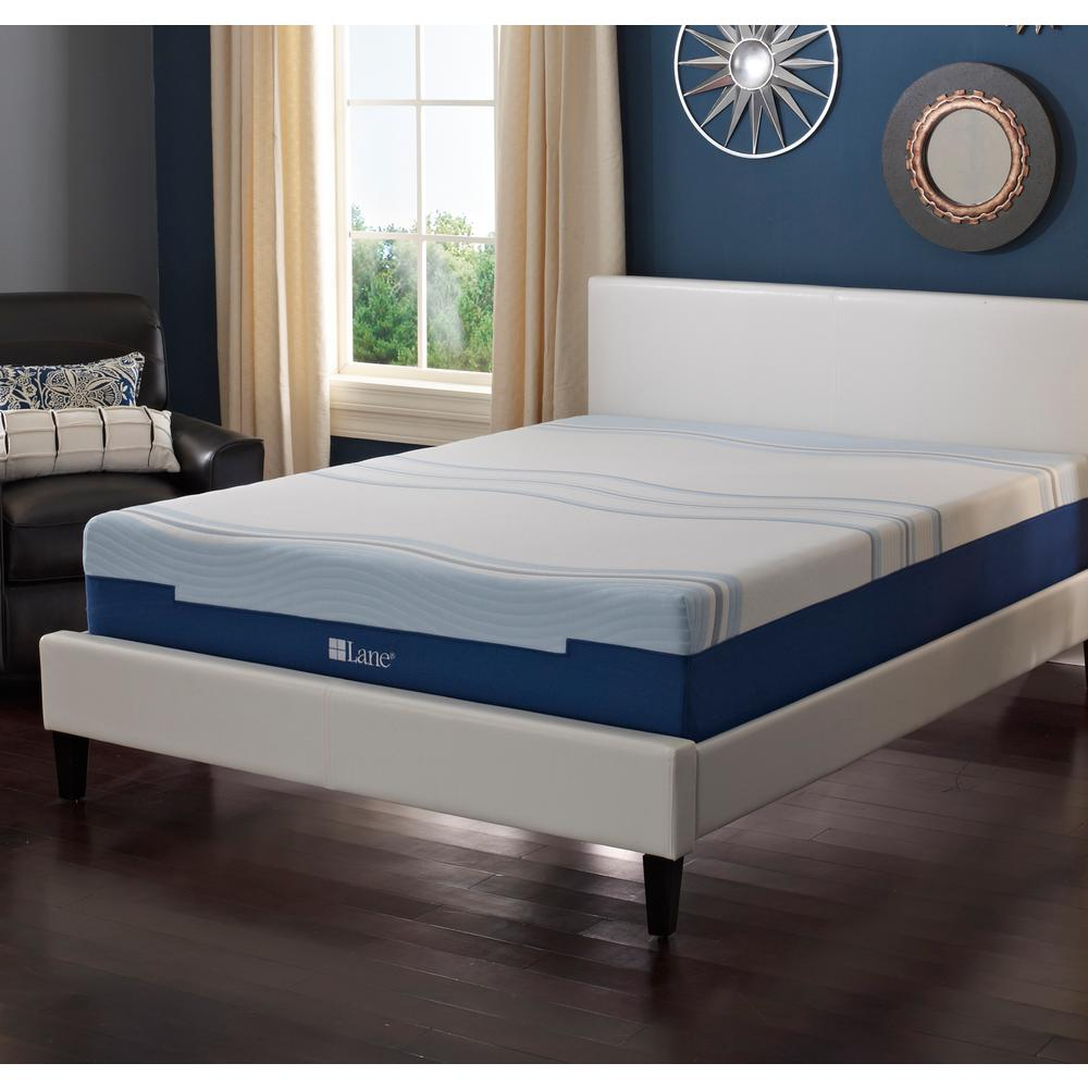 lane 10 in. king latex gel foam mattress-hd0101ek - the home depot