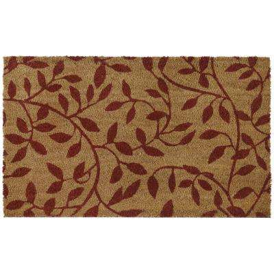 Leaves 18 in. x 30 in. Printed Coir Door Mat