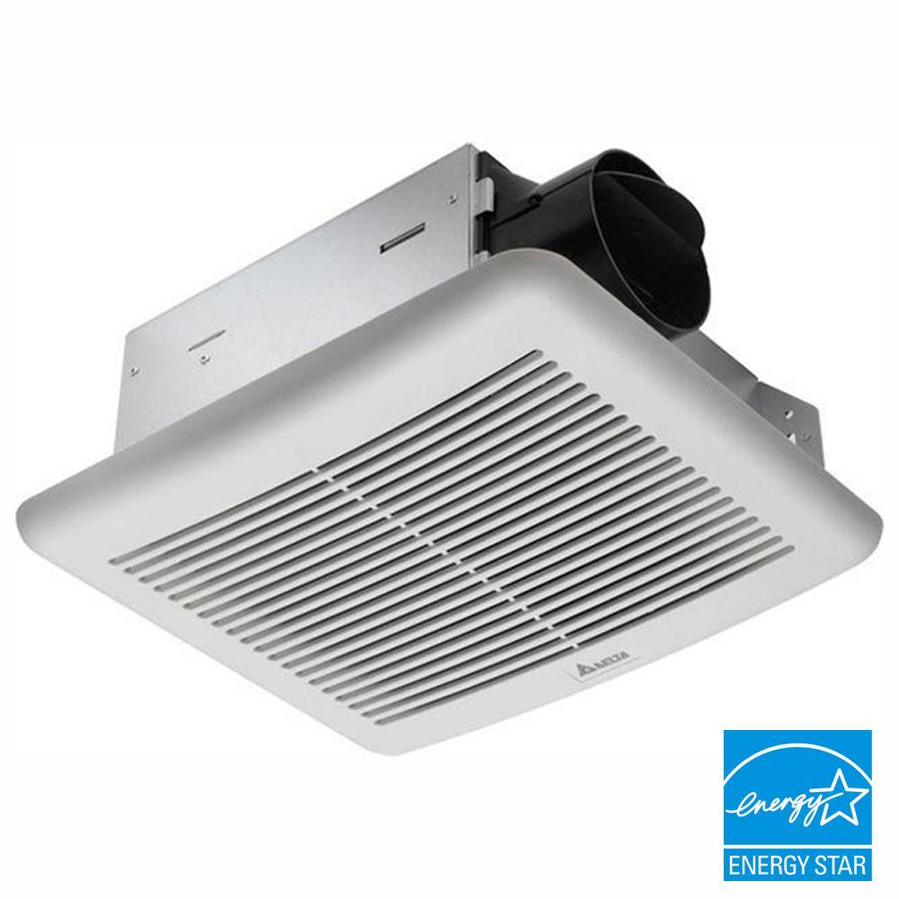 Slim Series 50 CFM Wall or Ceiling Bathroom Exhaust Fan, ENERGY STAR