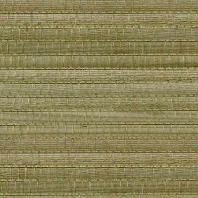 Gisei Green Grasscloth Wallpaper