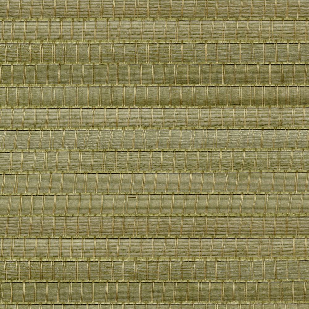 Gisei Green Grasscloth Wallpaper Sample