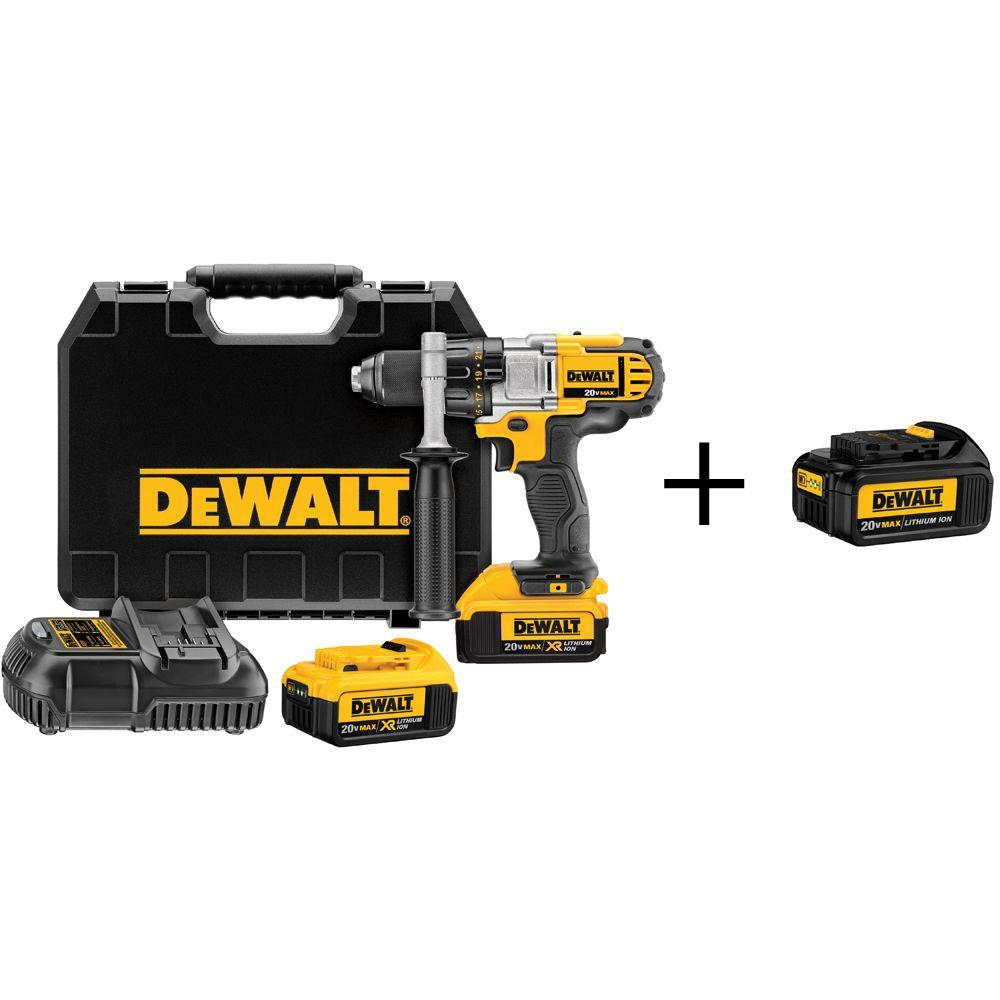 20-Volt MAX Lithium-Ion Cordless 1/2 in. Premium 3-Speed Drill/Driver with