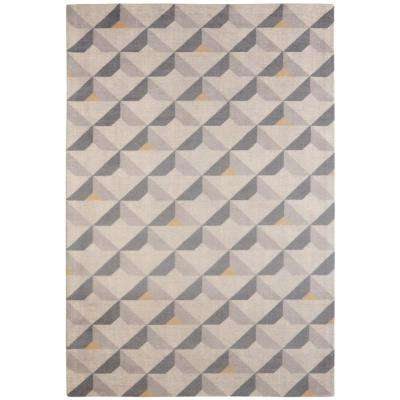 Diorite Mid-Century Modern Geometric Grey 5 ft. x 7 ft.  Area Rug
